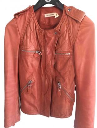 Isabel Marant Orange Leather Leather jackets