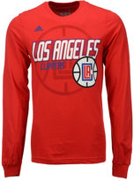 adidas Men's Long-Sleeve Los Angeles Clippers Distressed Back T-Shirt