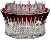 Waterford Lismore Diamond Red 14-Piece Vodka Chiller