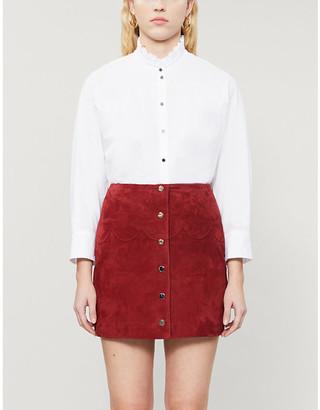 Claudie Pierlot Ruffled-collar cotton shirt