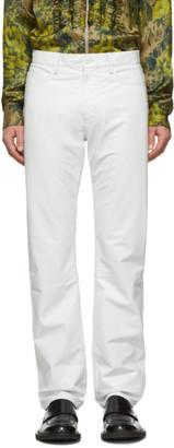 Dries Van Noten White Leather Pants