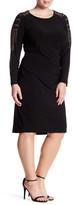 Marina Studded Long Sleeve Dress (Plus Size)