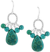 Barse Women's Silver Overlay/Genuine Turquoise Earring SIERE06TP
