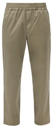 Barena Bragola Elasticated-waist Cotton-blend Trousers - Khaki