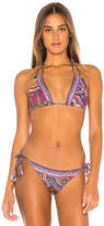 Camilla Gathered Plait Strap Slide Bikini Top