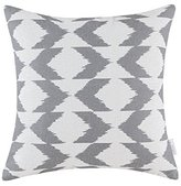 CaliTime Cushion Cover Throw Pillow Shell Ikat Malposed Zigzag Stripes Geometric Figures