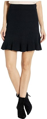 Free People Solid Gold Skirt (Black) Women's Skirt