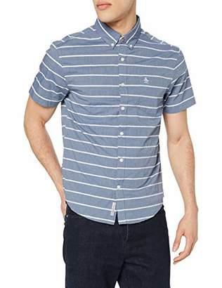 Original Penguin Men's Chambray Boucle Stripe Casual Shirt,Xx-Large