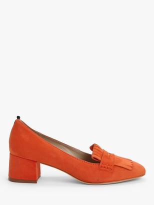 Boden Victoria Suede Heeled Loafers