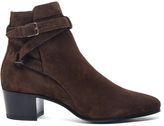Saint Laurent Suede Blake Boots
