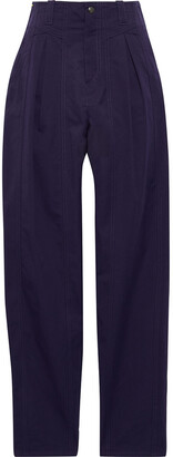 Isabel Marant Handy Pleated Cotton Tapered Pants