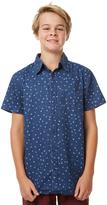 Rusty Kids Boys Cross Ss Shirt Blue