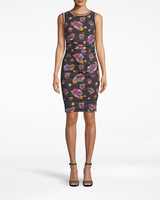 Nicole Miller Bouquet Beauty Cotton Metal Sheath Dress