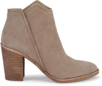 Dolce Vita Embossed-Snakeskin Leather & Suede Pull-On Booties