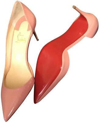 Christian Louboutin Iriza Pink Patent leather Heels