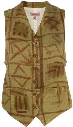 Romeo Gigli Pre-Owned 1990s painted waistcoat