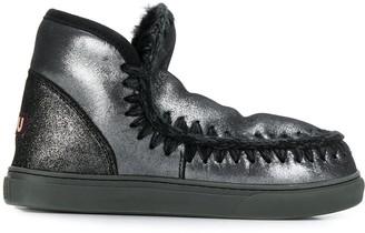 Mou metallic sheen Eskimo boots