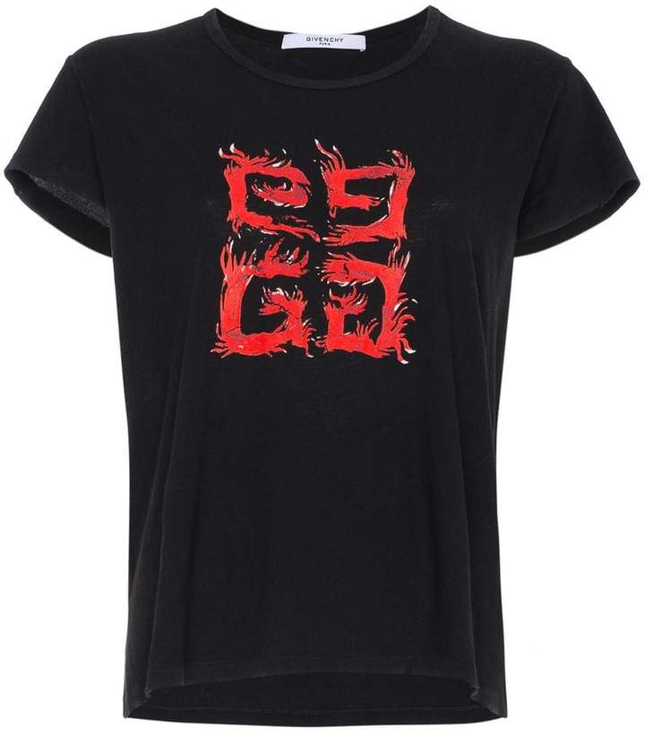 Givenchy 4G flame t shirt