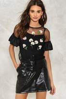 Nasty Gal nastygal Stem the Tide Embroidered Top