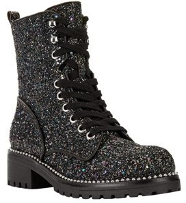 Glitter Lace Up Boots   Shop the world