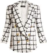 Balmain Notch-lapel checked blazer