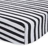 Little unicorn Ink stripe muslin cotton crib sheet