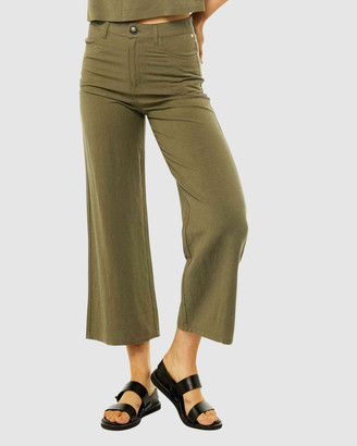 Rusty Women's Cropped Pants - Ringleader Wide Leg Pants - Size One Size, 8 at The Iconic