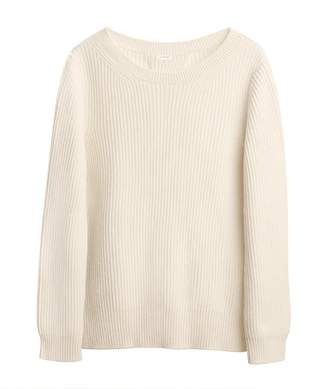 Ribbed Open-Back Sweater