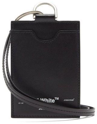 Off-White Off White Logo-print Leather Cardholder - Mens - Black
