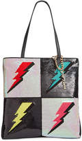 Betsey Johnson Sequined Lightning Medium Tote