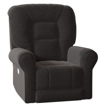 """Southern Motion Grand Slam 41"""" Wide Power Lift Assist Standard Recliner Body Fabric: Pebble Beach Charcoal"""