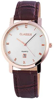 CLASSIX Mens Analogue Quartz Watch with Leather Strap RP3103200001
