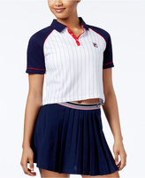 Fila Carletta Cotton Colorblocked Cropped Polo