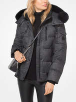 Michael Kors Fur-Trimmed Down Jacket