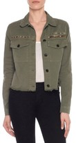 Joe's Jeans Women's Frayed Crop Denim Flight Jacket