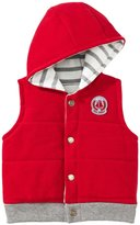 Petit Bateau Hooded Vest (Baby) - Red-3 Months