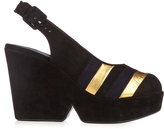Sonia Rykiel X Robert Clergerie Dylan suede wedge sandals