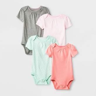 Cloud Island Baby Girls' 4pk Short Sleeve Bodysuit - Cloud Island