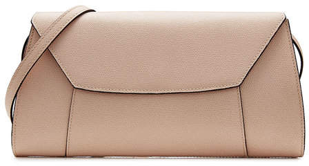 Valextra La Scala Leather Clutch