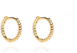 Coco Mango Jewellery Everyday 18K Gold Rope Huggie Hoops