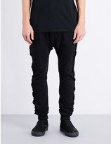 Blood Brother Frayed edge cotton-jersey jogging bottoms