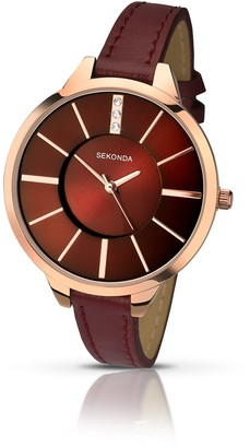 Sekonda Women's Quartz Watch with White Dial Analogue Display and White PU Strap 4219.27