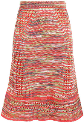 M Missoni Crocheted Cotton Skirt