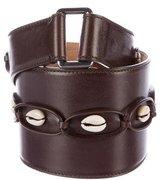 Alaia Leather Embellished Belt