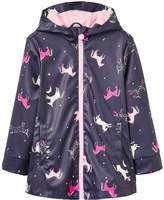 Joules Girls Raindance Printed Rubber Coat