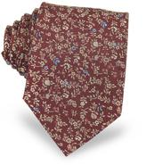 Forzieri Micro Flower Woven Silk Men's Tie