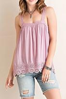 Entro Medallion Lace Tank