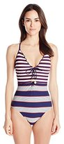 Sperry Sider Women's Sailing Stripe One Piece Swimsuit
