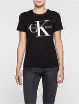 Calvin Klein Womens Icon Logo T-Shirt