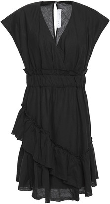IRO Billow Ruffled Linen And Cotton-blend Mini Dress